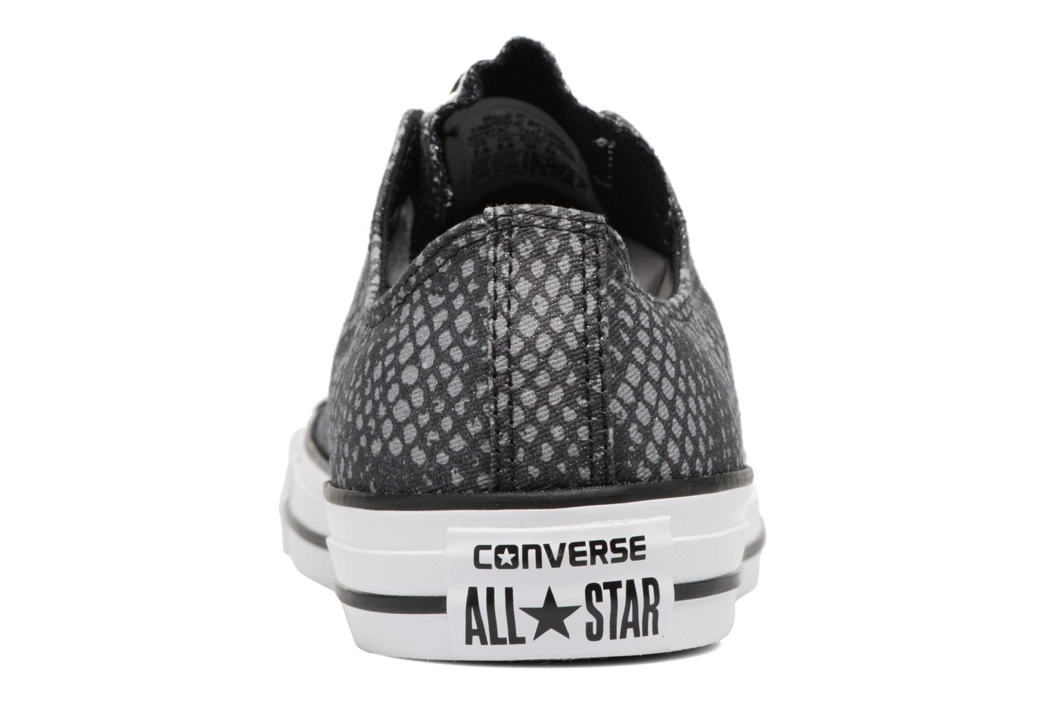 Baskets Converse Chuck Taylor All Star Lurex Snake Ox Gris vue droite