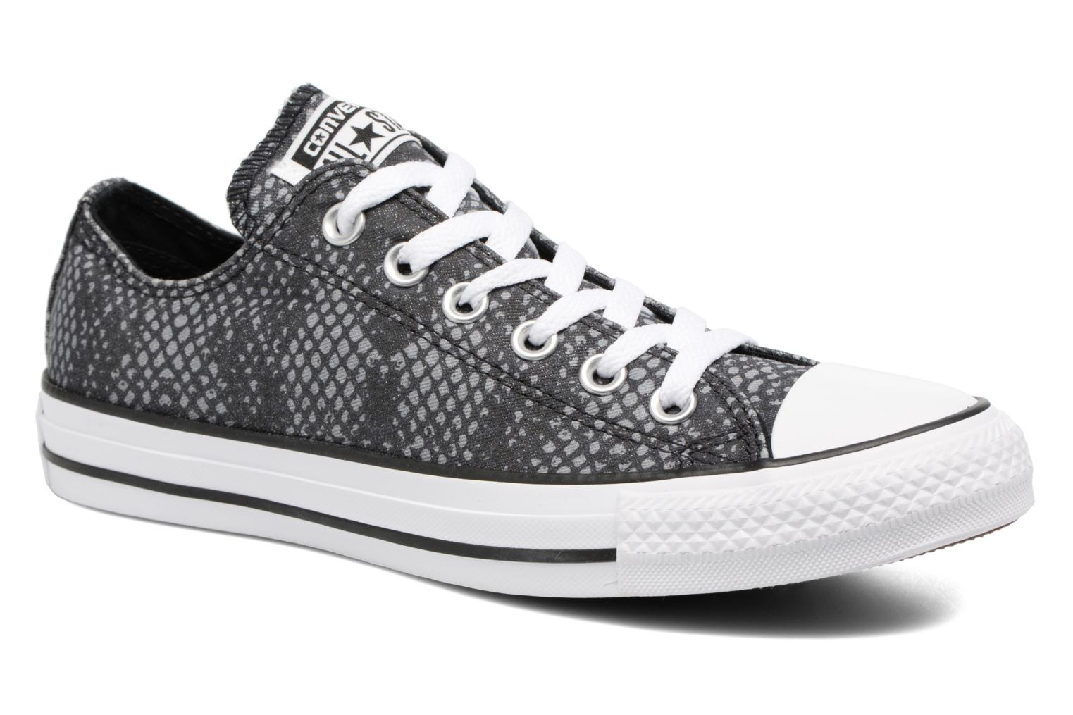 Baskets Converse Chuck Taylor All Star Lurex Snake Ox Gris vue détail/paire