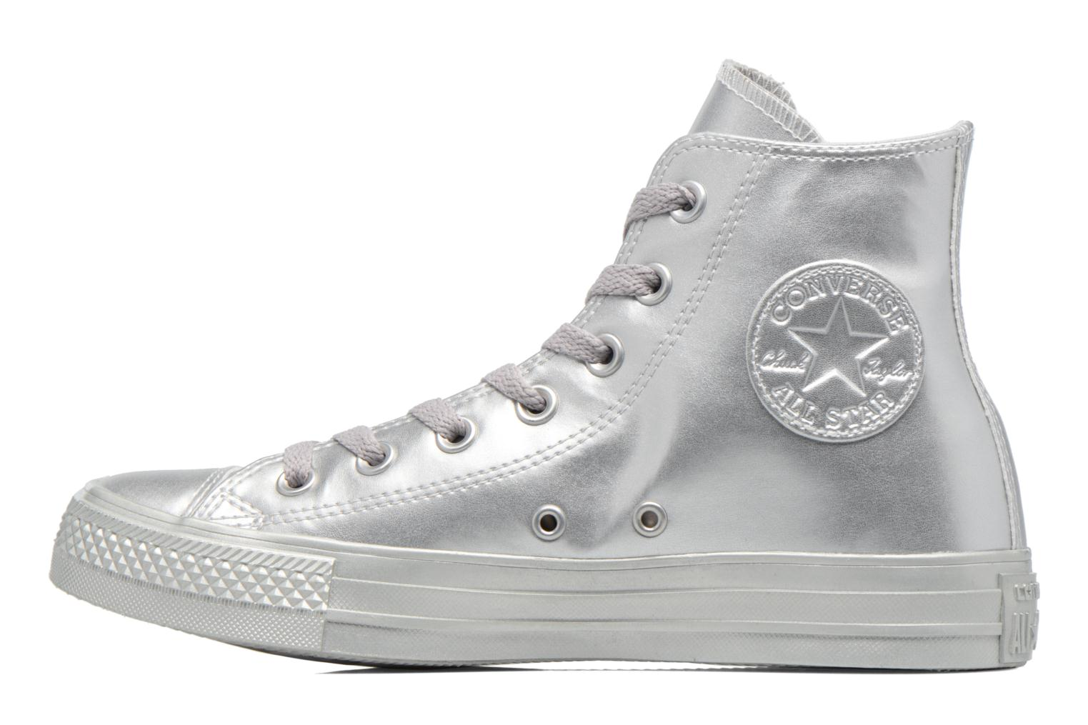 Baskets Converse Chuck Taylor All Star Liquid Metallic Hi Argent vue face