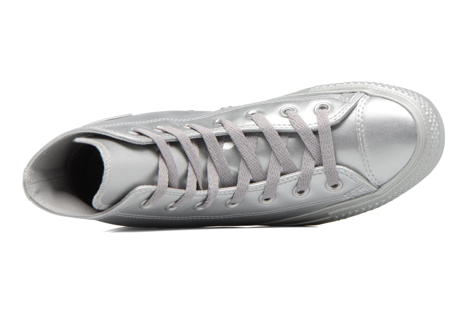 Baskets Converse Chuck Taylor All Star Liquid Metallic Hi Argent vue gauche