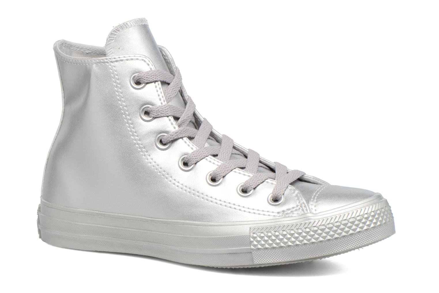 Baskets Converse Chuck Taylor All Star Liquid Metallic Hi Argent vue détail/paire