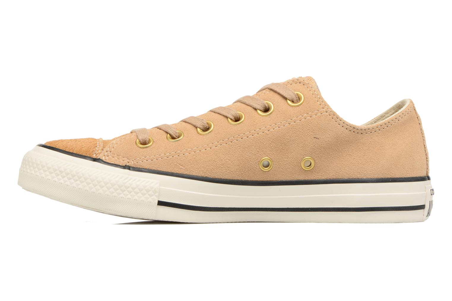 Sneakers Converse Chuck Taylor All Star Pony Hair Ox Beige voorkant