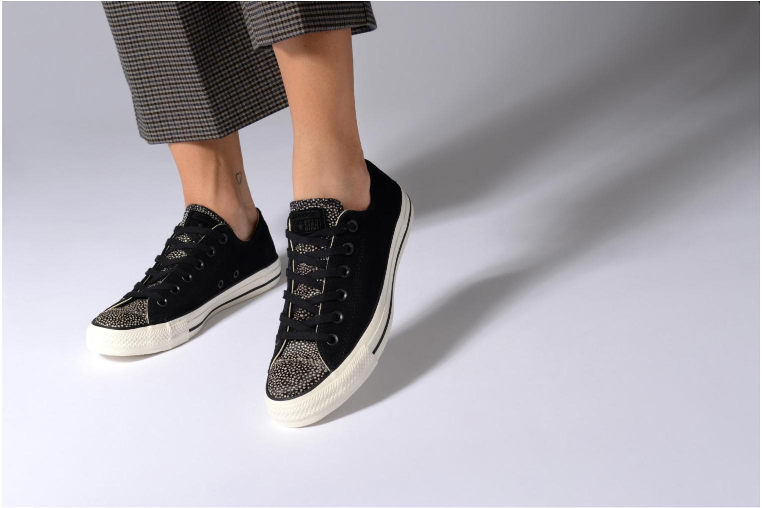 Trainers Converse Chuck Taylor All Star Pony Hair Ox Black view from underneath / model view