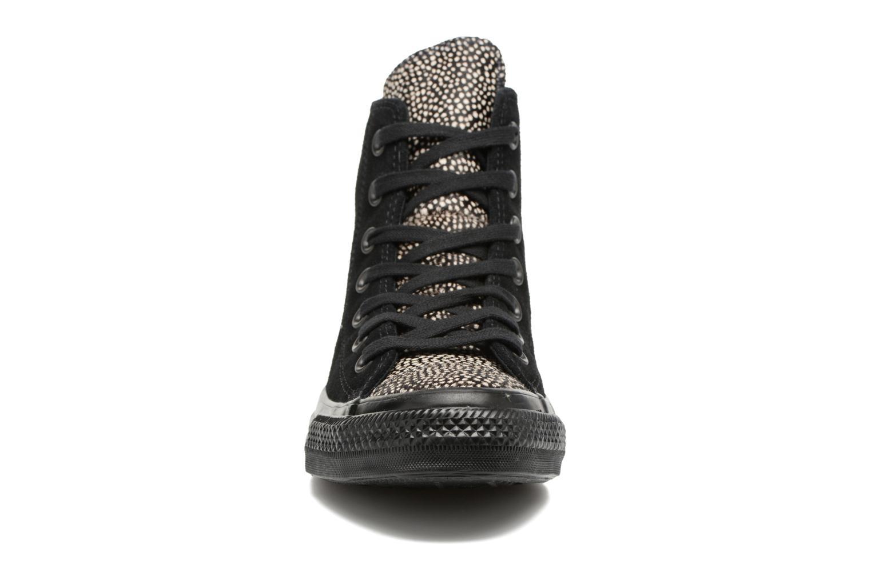 Baskets Converse Chuck Taylor All Star Pony Hair Hi Noir vue portées chaussures