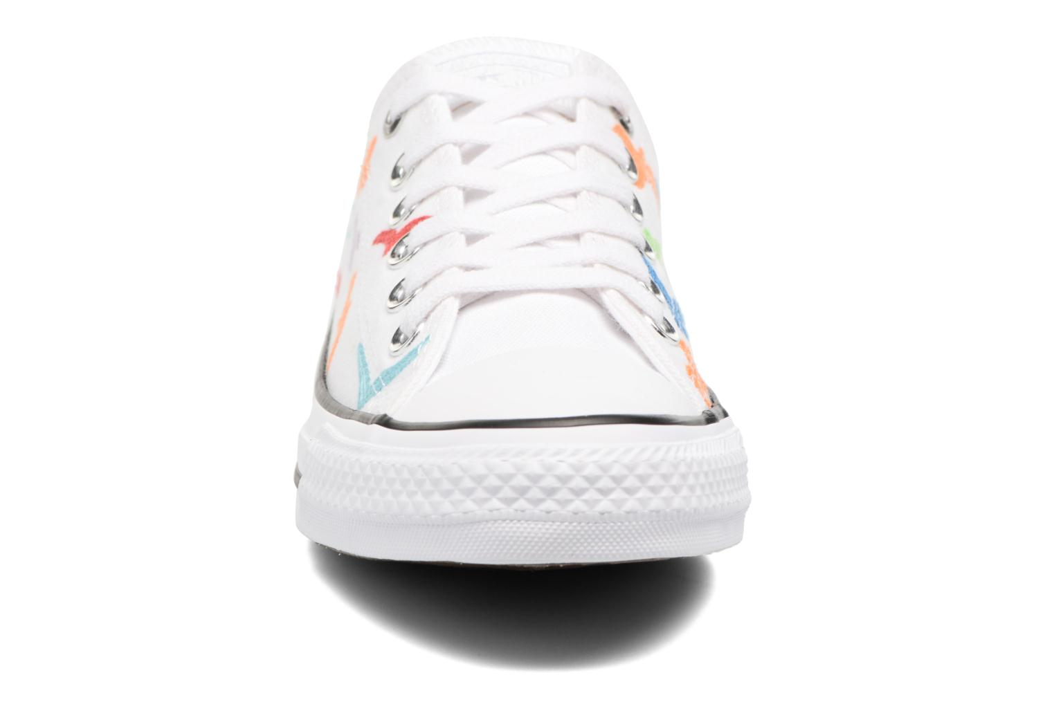 Baskets Converse Chuck Taylor All Star Mara Hoffman Rainbow Birds Ox Blanc vue portées chaussures