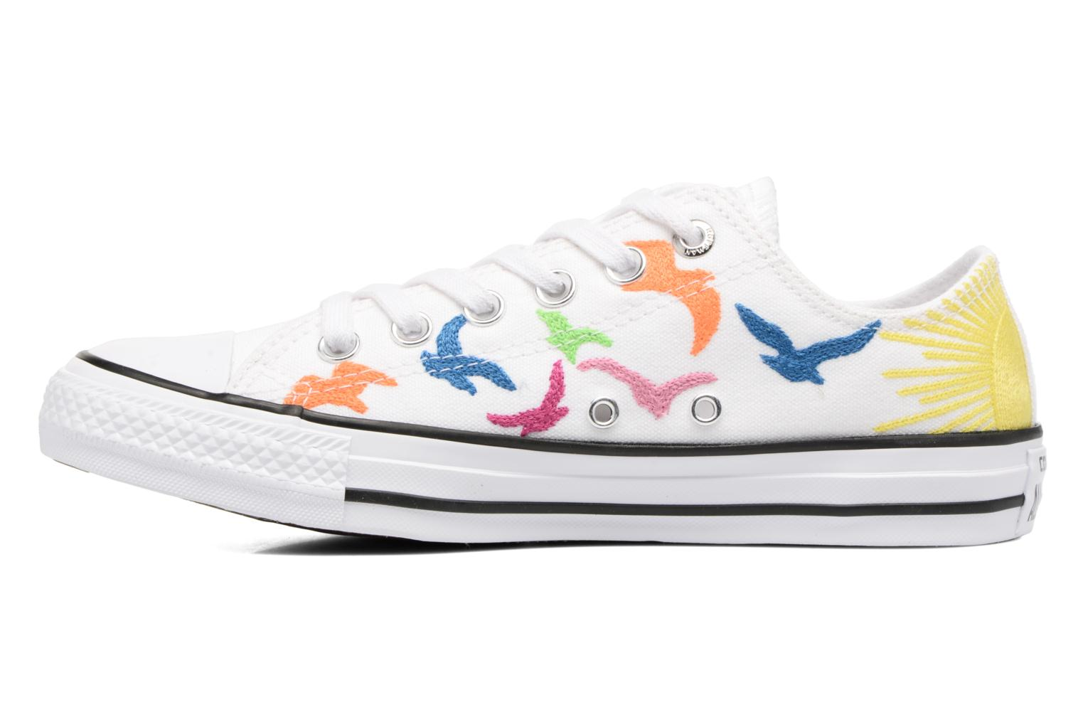 Baskets Converse Chuck Taylor All Star Mara Hoffman Rainbow Birds Ox Blanc vue face