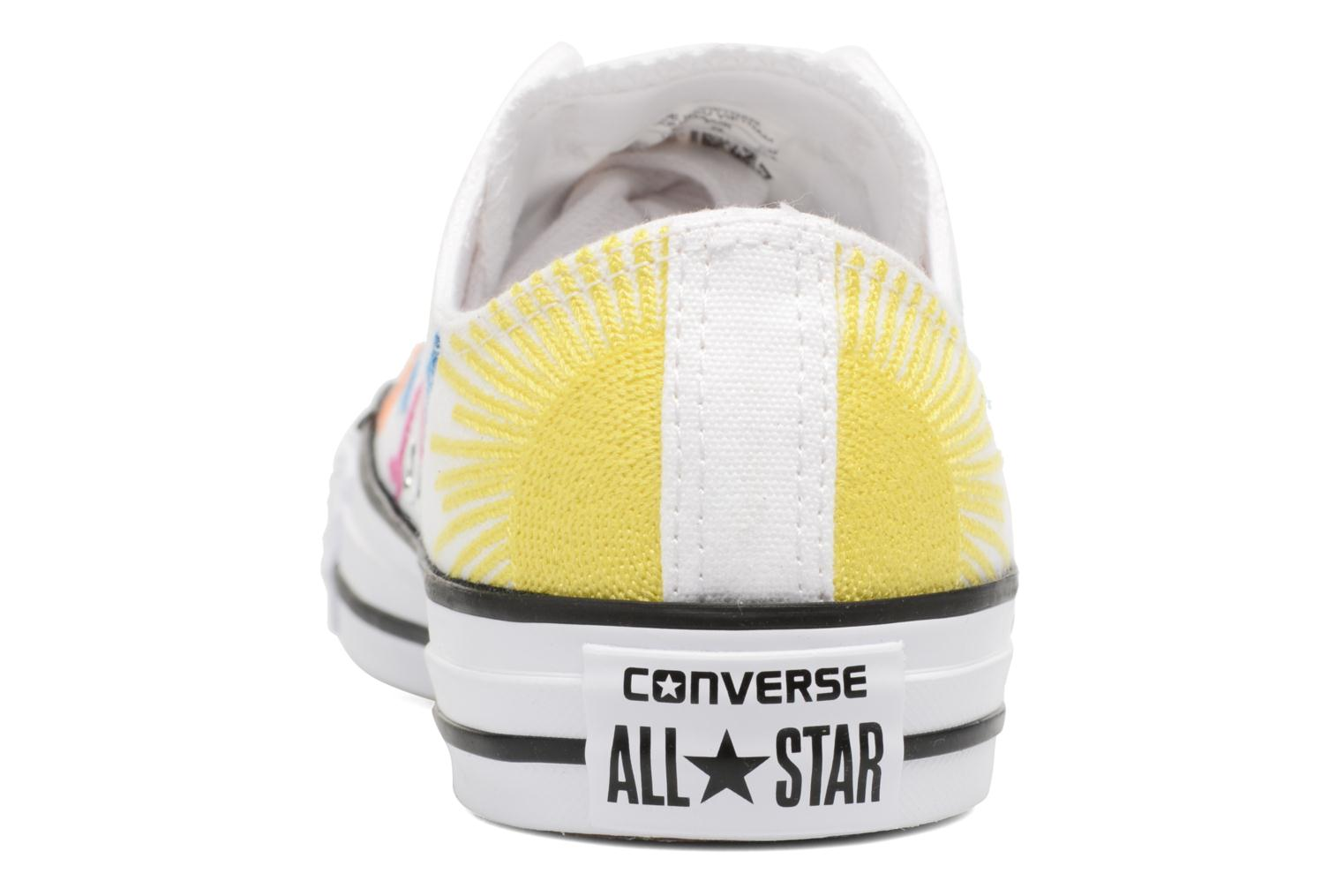 Baskets Converse Chuck Taylor All Star Mara Hoffman Rainbow Birds Ox Blanc vue droite