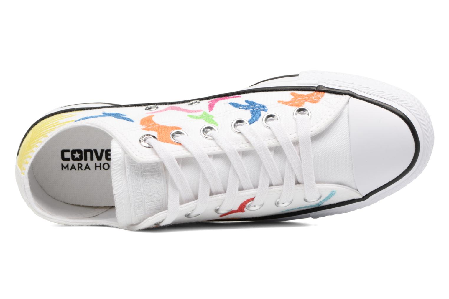 Baskets Converse Chuck Taylor All Star Mara Hoffman Rainbow Birds Ox Blanc vue gauche