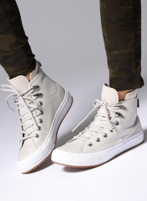 Trainers Converse Chuck Taylor WP Boot WP Leather Hi Black view from underneath / model view
