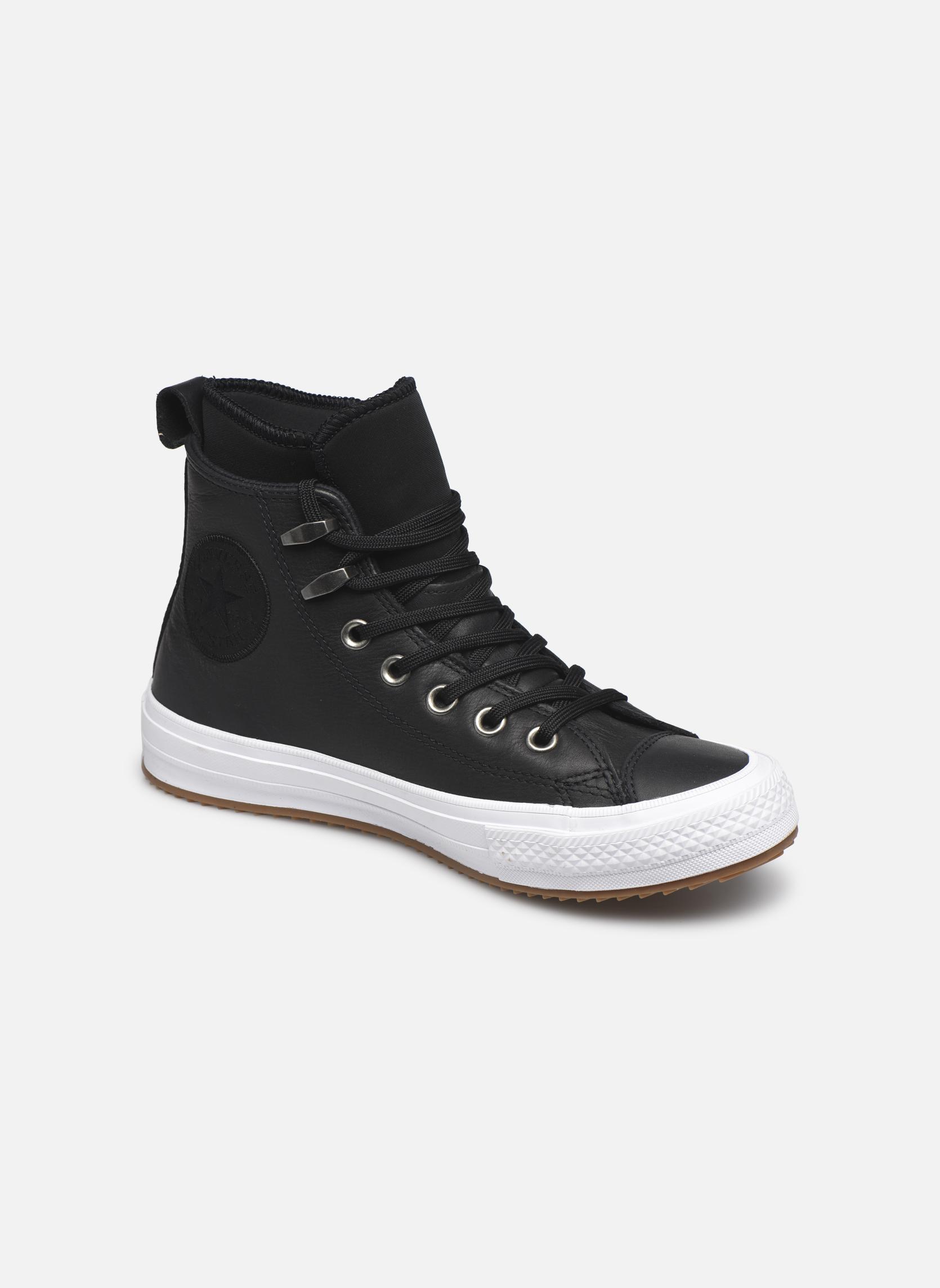 Baskets Converse Chuck Taylor WP Boot WP Leather Hi Noir vue détail/paire