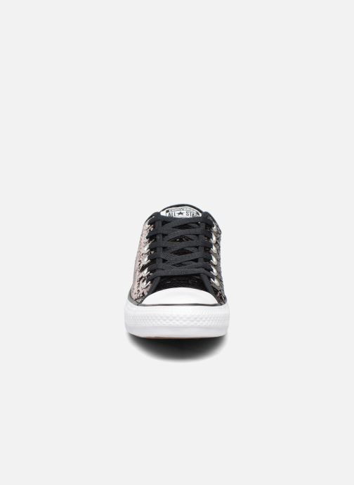 Sneaker Converse Chuck Taylor All Star Sequins Ox braun schuhe getragen