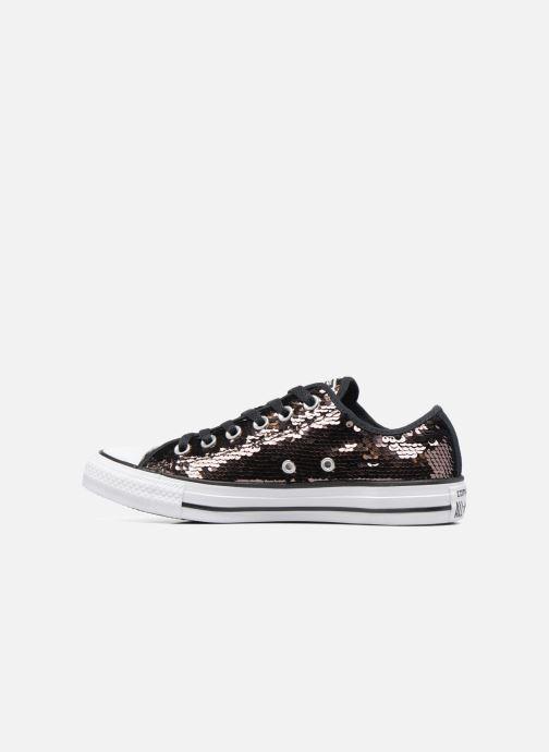 Sneaker Converse Chuck Taylor All Star Sequins Ox braun ansicht von vorne