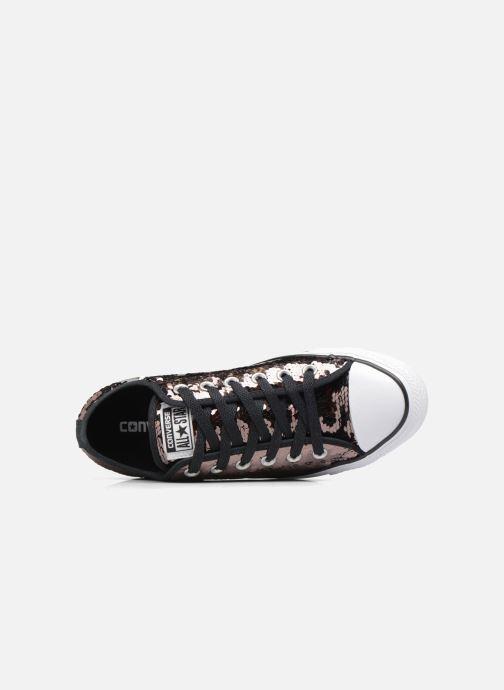 Sneaker Converse Chuck Taylor All Star Sequins Ox braun ansicht von links