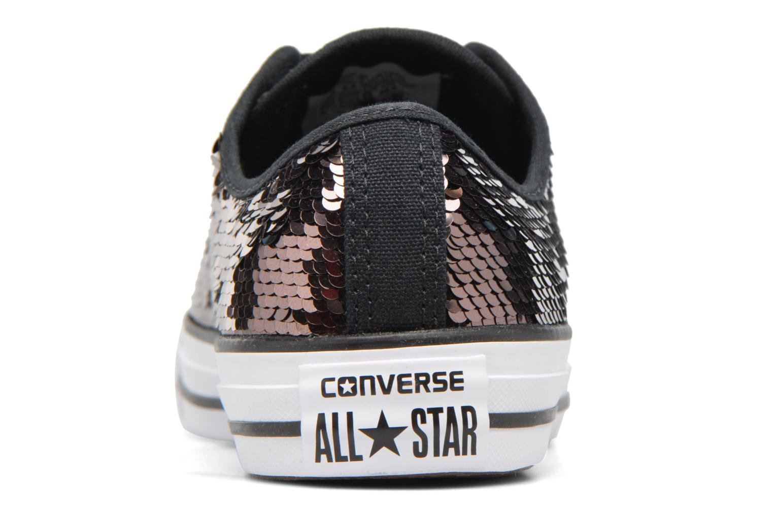 Deportivas Converse Chuck Taylor All Star Sequins Ox Marrón vistra trasera