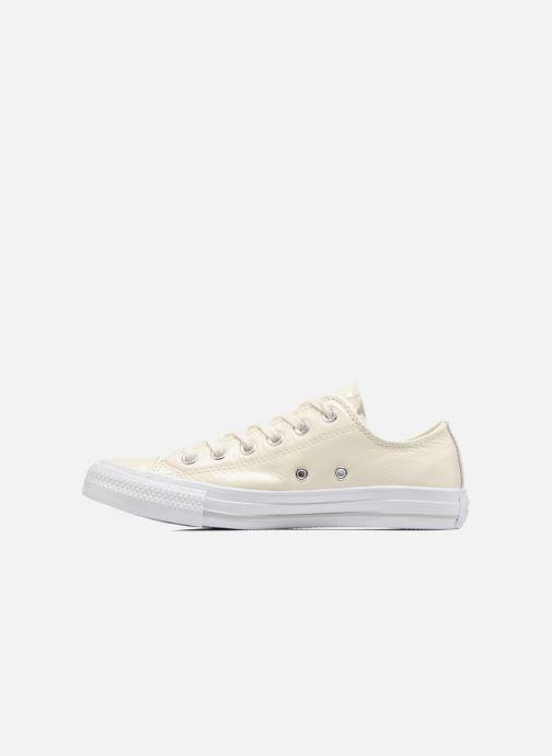 Sneaker Converse Chuck Taylor All Star Crinkled Patent Leather Ox weiß ansicht von vorne