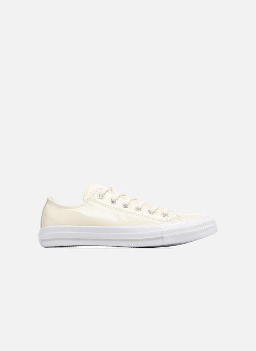 Sneaker Converse Chuck Taylor All Star Crinkled Patent Leather Ox weiß ansicht von hinten