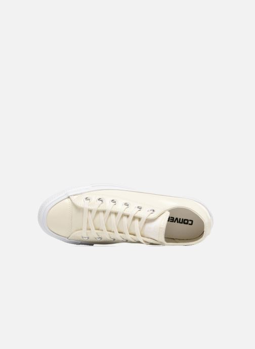 Deportivas Converse Chuck Taylor All Star Crinkled Patent Leather Ox Blanco vista lateral izquierda