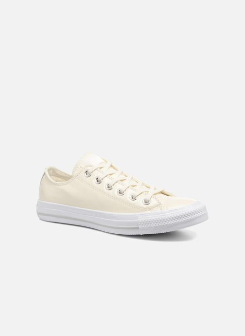 Baskets Converse Chuck Taylor All Star Crinkled Patent Leather Ox Blanc vue détail/paire