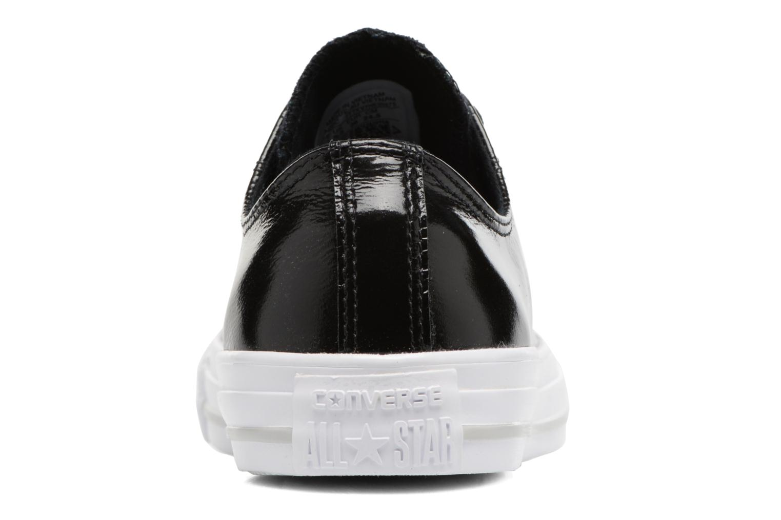 Baskets Converse Chuck Taylor All Star Crinkled Patent Leather Ox Noir vue droite