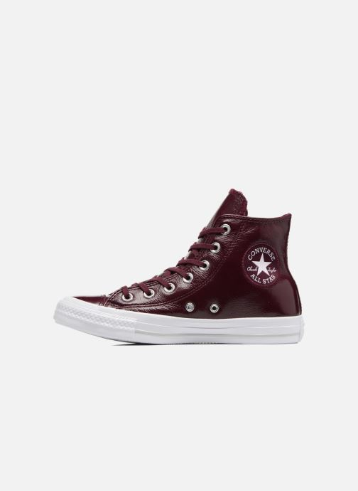 78b6df9b6a279 Sneaker Converse Chuck Taylor All Star Crinkled Patent Leather Hi weinrot  ansicht von vorne