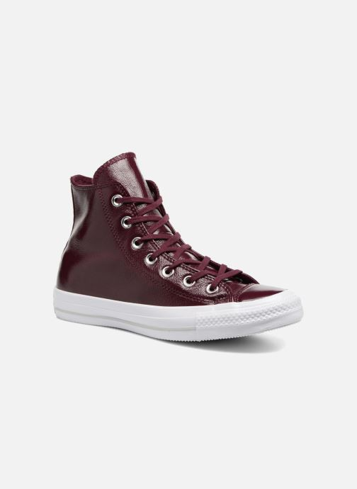 18f62e44100c Trainers Converse Chuck Taylor All Star Crinkled Patent Leather Hi Burgundy  detailed view  Pair view