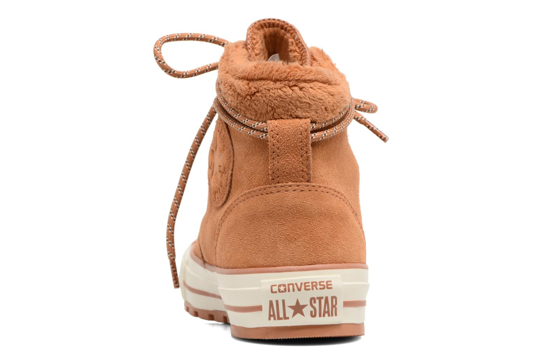 Bottines et boots Converse Chuck Taylor All Star Ember Boot Suede + Fur Hi Marron vue droite