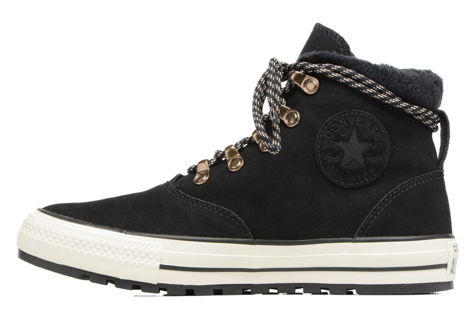 Bottines et boots Converse Chuck Taylor All Star Ember Boot Suede + Fur Hi Noir vue face