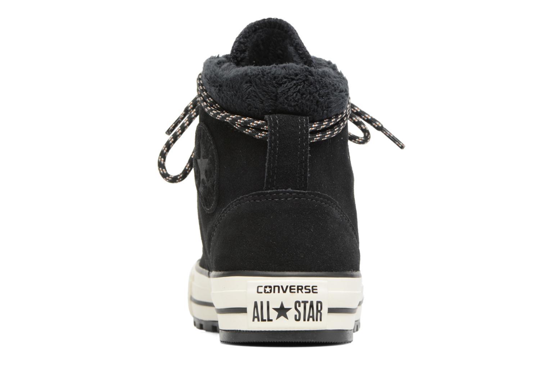 Botines  Converse Chuck Taylor All Star Ember Boot Suede + Fur Hi Negro vista lateral derecha