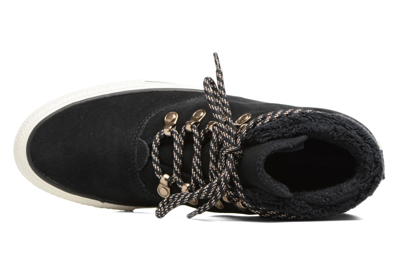 Botines  Converse Chuck Taylor All Star Ember Boot Suede + Fur Hi Negro vista lateral izquierda
