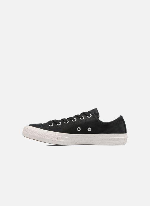 Sneaker Converse Chuck Taylor All Star Nubuck Ox W schwarz ansicht von vorne