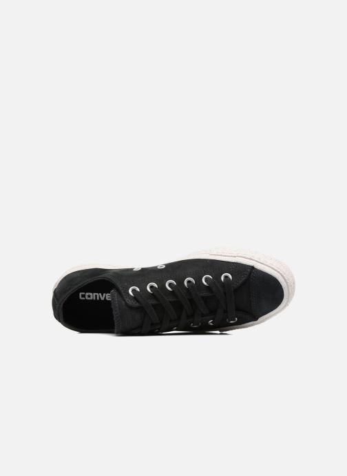 Sneaker Converse Chuck Taylor All Star Nubuck Ox W schwarz ansicht von links
