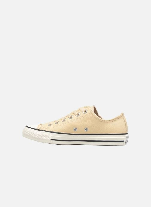 Trainers Converse Chuck Taylor All Star Tumbled Leather Ox Beige front view