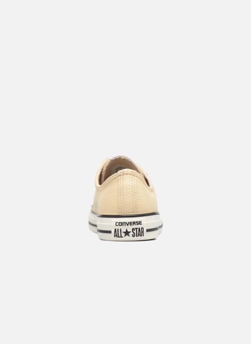Trainers Converse Chuck Taylor All Star Tumbled Leather Ox Beige view from the right