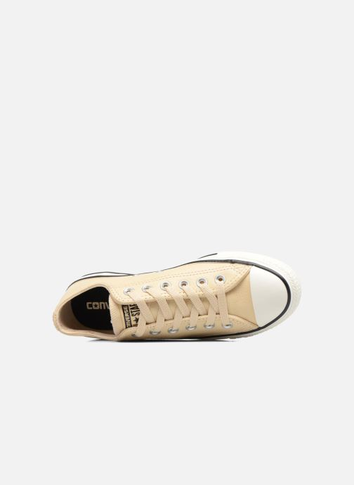 Trainers Converse Chuck Taylor All Star Tumbled Leather Ox Beige view from the left