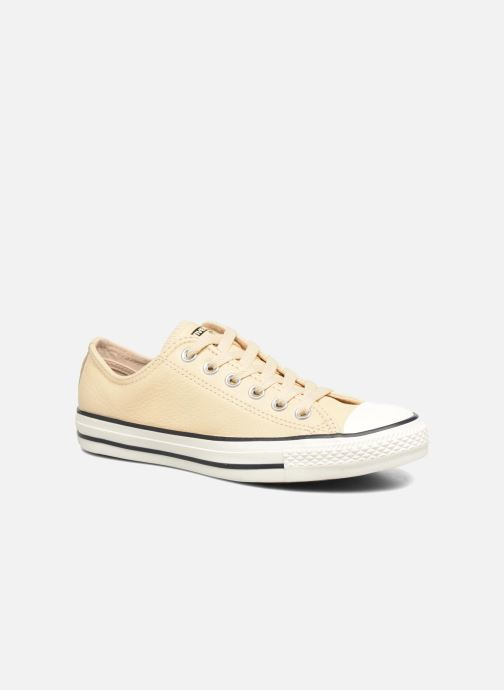 Trainers Converse Chuck Taylor All Star Tumbled Leather Ox Beige detailed view/ Pair view