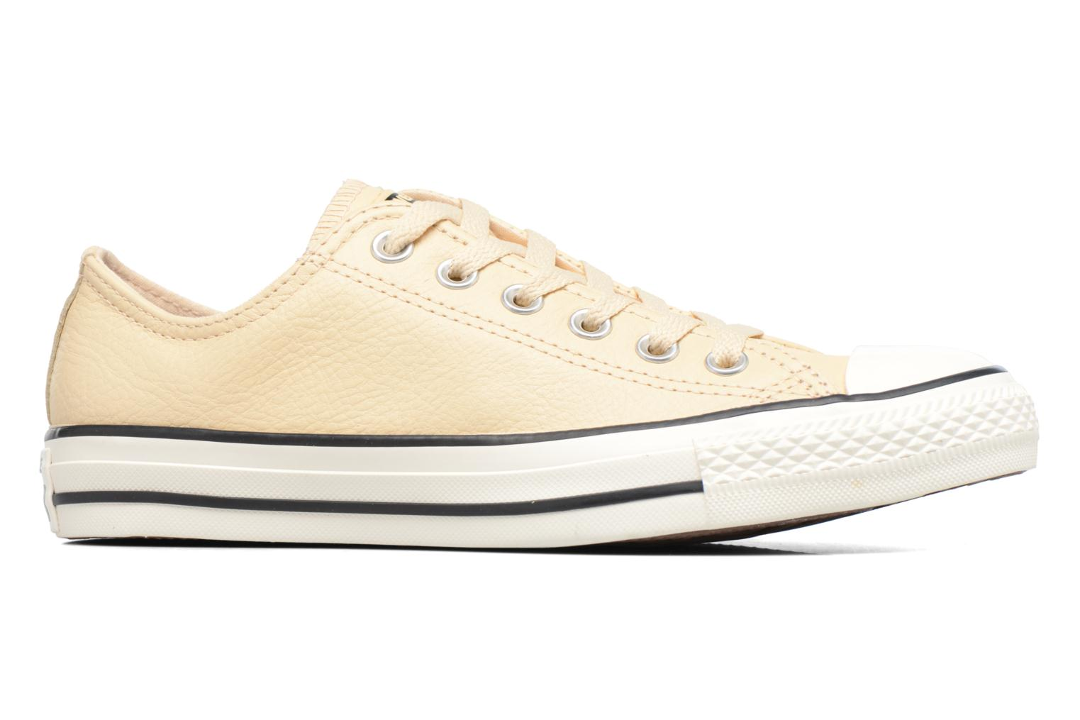 Deportivas Converse Chuck Taylor All Star Tumbled Leather Ox Beige vistra trasera
