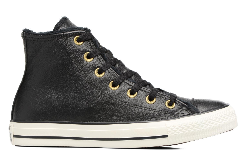 Baskets Converse Chuck Taylor All Star Leather + Fur Hi Noir vue derrière