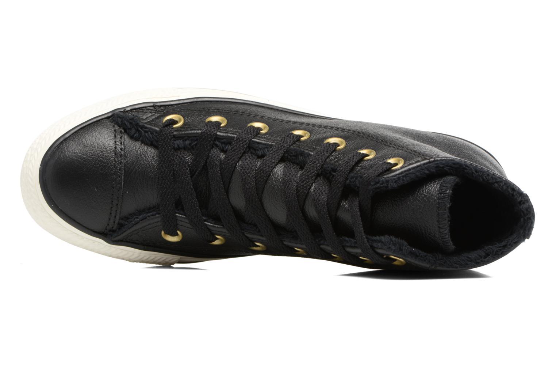 Baskets Converse Chuck Taylor All Star Leather + Fur Hi Noir vue gauche