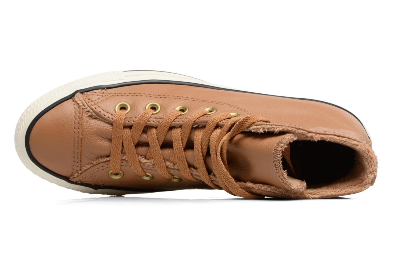 Baskets Converse Chuck Taylor All Star Leather + Fur Hi Marron vue gauche