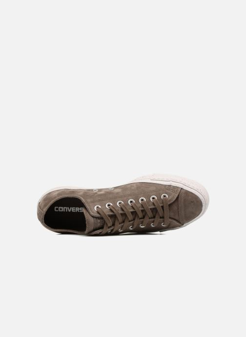 Baskets Converse Chuck Taylor All Star Nubuck Ox M Marron vue gauche