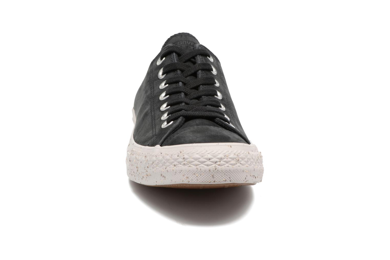 Sneaker Converse Chuck Taylor All Star Nubuck Ox M schwarz schuhe getragen
