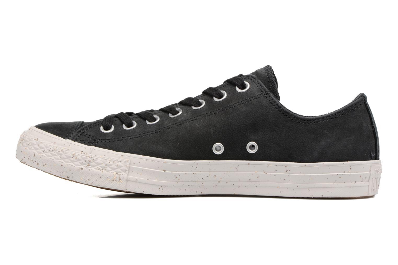 Sneaker Converse Chuck Taylor All Star Nubuck Ox M schwarz ansicht von vorne