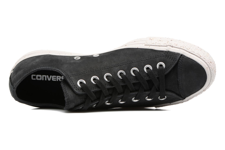 Sneaker Converse Chuck Taylor All Star Nubuck Ox M schwarz ansicht von links
