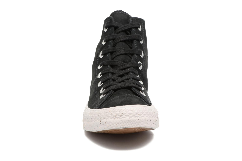 Baskets Converse Chuck Taylor All Star Nubuck Hi M Noir vue portées chaussures