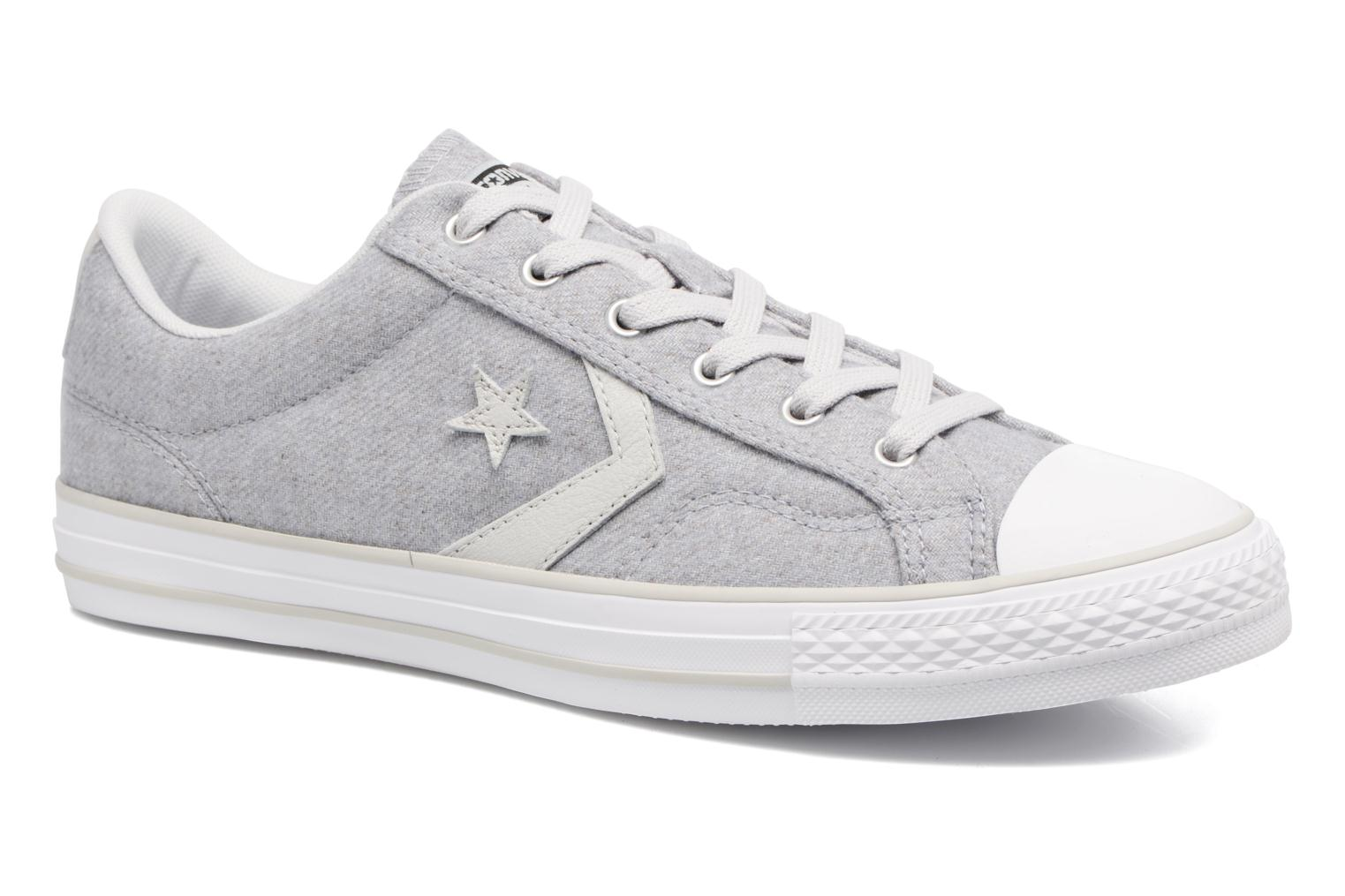 Baskets Converse Star Player Textile Ox Gris vue détail/paire