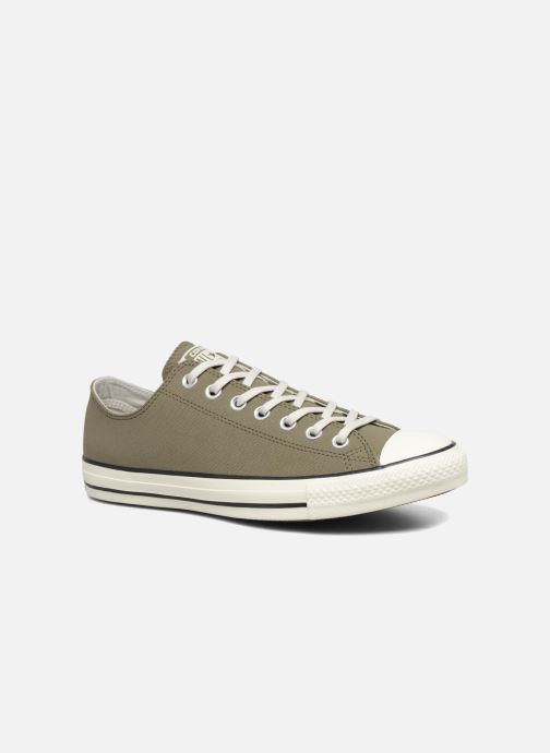 93be4ca2f5b3 Trainers Converse Chuck Taylor All Star Coated Leather Ox Green detailed  view  Pair view