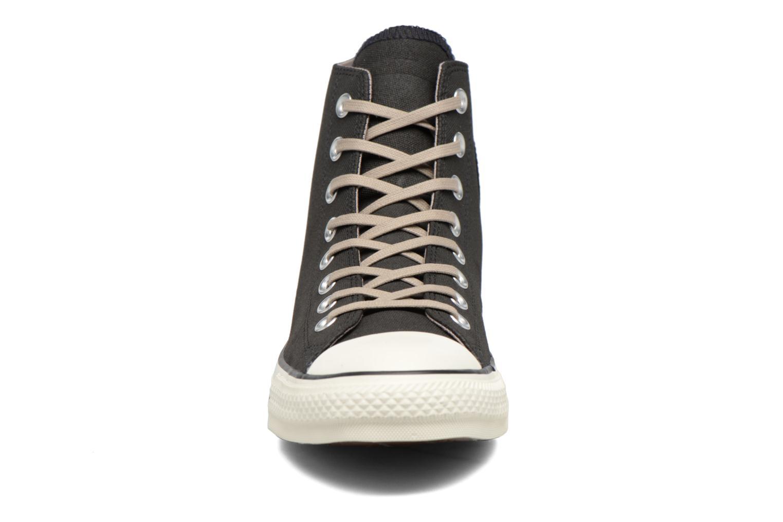 Sneaker Converse Chuck Taylor All Star Coated Leather Hi schwarz schuhe getragen