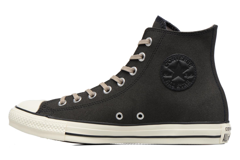 Sneaker Converse Chuck Taylor All Star Coated Leather Hi schwarz ansicht von vorne