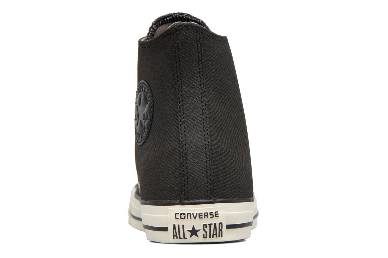 Sneaker Converse Chuck Taylor All Star Coated Leather Hi schwarz ansicht von rechts