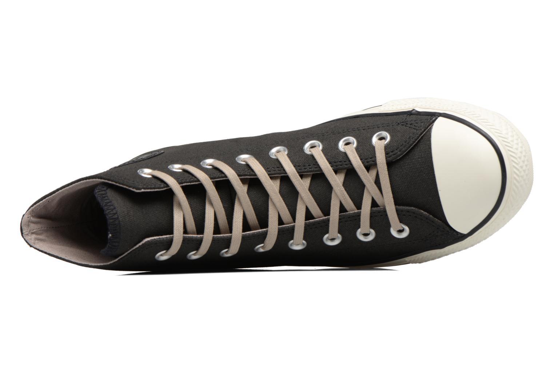 Sneaker Converse Chuck Taylor All Star Coated Leather Hi schwarz ansicht von links